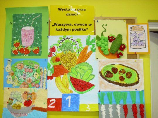 Wystawa Prac Plastycznych Warzywa Owoce W Każdym Posiłku